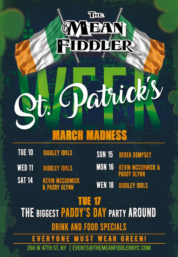 Paddys_lineup-min Times Square Private events, Sports & Party Bar - The Mean Fiddler